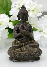 Buddha Turning of the Wheel Bronze Statue, Miniature