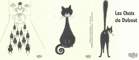 dubout illustrations funny cats
