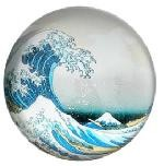 Great Wave off Kanagawa Glass Paperweight by Hokusai