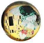 The Kiss Glass Paperweight by Klimt