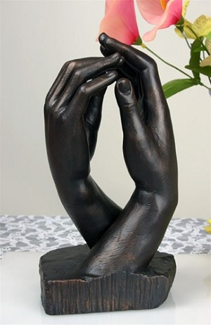 Rodin Cathedral Clasping Hands Statue