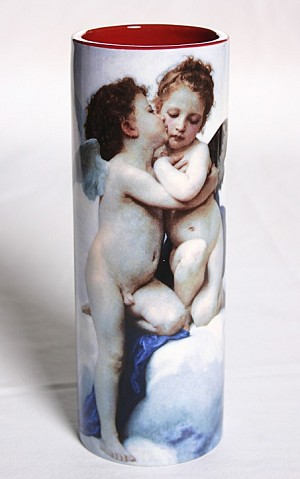 Bouguereau Cupid and Psyche Ceramic Vase