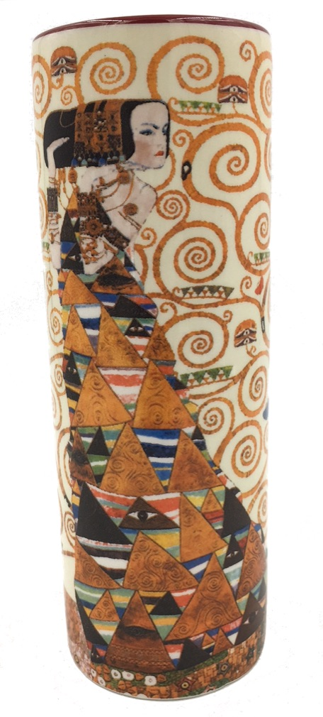 Klimt Expectation Couple Hugging Small Flower Vase Parastone