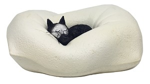 Kitty Sleeping in Fluffy Pillow Statue by Dubout DUB45 Parastone