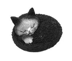 Cat Kitty Taking Nap Siesta Mini Figurine by Dubout