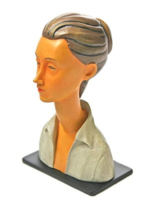 Woman Portrait Lunia Czechowska Elongated Neck Statue by Modigliani 4H