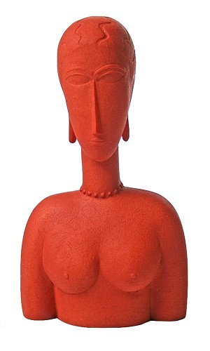 Modigliani Abstract Female Bust, Red - MO14