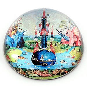 Fountain from Garden of Earthly Delights Glass Paperweight by Bosch