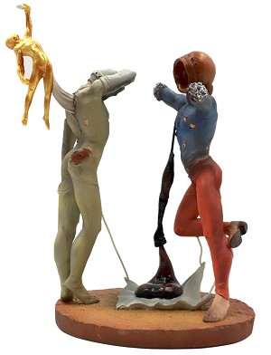 Poetry of America Cosmic Athletes Statue by Dali