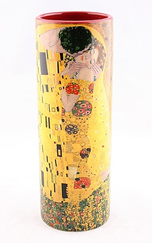 Klimt The Kiss Ceramic  Vase Small