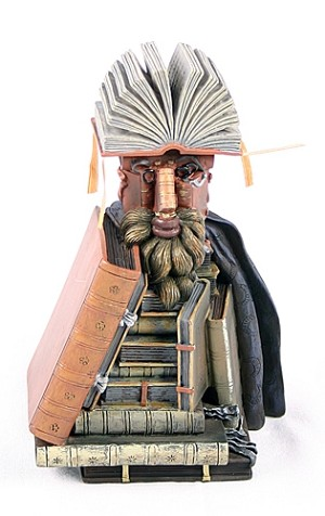 The Librarian Man Made of Books By Arcimboldo