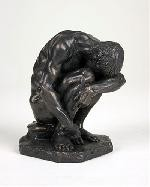 Crouching Man Male Nude by Bartlett, American