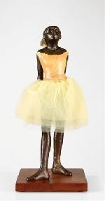 Degas Fourteen Year Old Little Dancer Ballerina with Fabric Skirt, Large