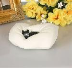 Cat Sleeping on Pillow by Dubout