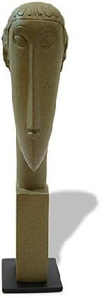 Statue Woman Elongated Block Abstract Head by Modigliani