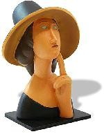 Jeanne Hebuterne Lady in Straw Hat Statue (1918) by Modigliani - MO03
