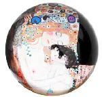 Three Ages of Women Glass Paperweight by Klimt