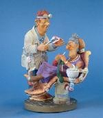 Dentist With Grandma Knitting Statue, Small