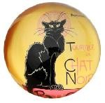 Le Chat Noir Glass Paperweight by Steinlen