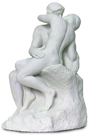 The Kiss by Rodin White - Large