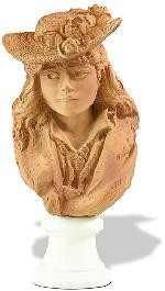 Rose Beuret in Straw Hat Portrait Statue by Rodin
