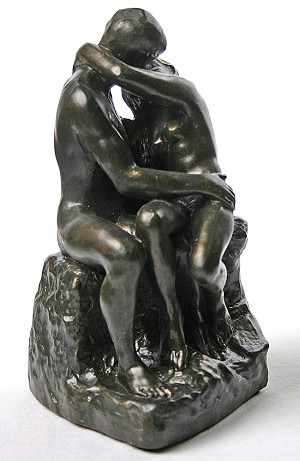 The Kiss by Rodin Bronze - Small