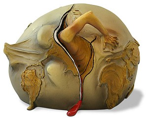 Geopolitical Child Watches Birth of New Human by Salvador Dali - Small