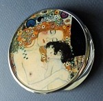Mother and Child Pocket Mirror by Klimt