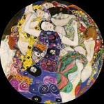 The Virgin Die Jungfrau Pocket Mirror by Klimt