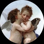 Love and Psyche Pocket Mirror by Bougereau - special order
