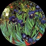 Irises Pocket Mirror by Van Gogh
