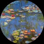 Waterlilies Pocket Mirror by Monet