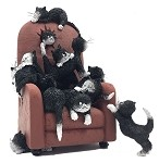 Kittens on a Highback Chair Save Me a Seat by Dubout Figurine
