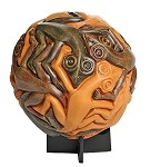 Sphere with Reptiles Tessellation by Escher