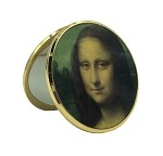 DaVinci Mona Lisa Purse Handbag Cosmetic Magnification Mirror 2.75W