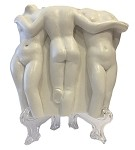 Pocket Art Greek Three Graces Classical Nude Ladies Miniature Statue 3.1H