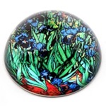 Irises Glass Paperweight by Van Gogh