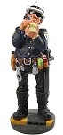 Policeman Ready for Work Statue, Large - special order