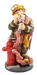 Fireman Ready For Work with Hose Statue, Large - special order