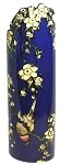 Hokusai Japanese Bird and Flowers Ceramic Vase SDA04 Silhouette d'Art