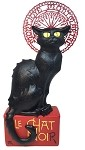 Le Chat Noir Black Cat Statue by Steinlen