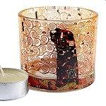 Klimt Fulfillment Glass Tealight Candleholder