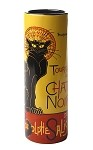 Steinlen Le Chat Noir Cat Ceramic Bud Vase