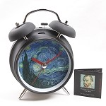 Van Gogh Starry Night Museum Bell Alarm Clock
