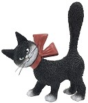 Cat La Minette Black So Cute with Red Bow and Tail Up Figurine by Dubout