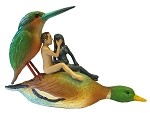 Couple on a Duck Seduction Sin Statue by Hieronymos Bosch JB26 Parastone