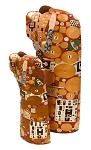 Fulfillment Lovers Embracing Statue by Gustav Klimt Large