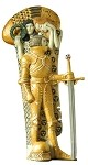 Knight with Sword from Beethoven Frieze by Gustav Klimt