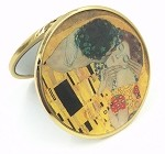 Kiss Pocket Mirror by Klimt