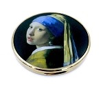 Vermeer Woman with Pearl Earring Pocket Cosmetic Mirror